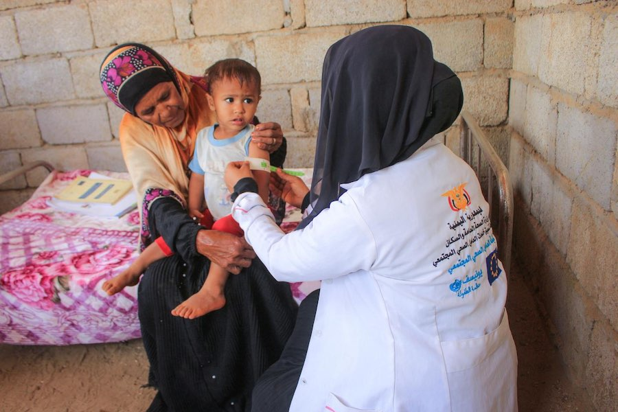 In Hajjah, a small town at the very heart of Yemen's conflict that's off-limits for news organizations, Ashwaq Mahmoud AbdoQabul used a UNICEF grant to build the only healthcare facility for many miles around.