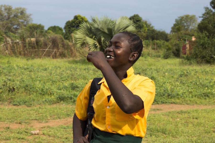 Josephine Bakhita, 16, is happy that her UNICEF-supported school has reopened in Torit, South Sudan, after shutting down to prevent the spread of the novel coronavirus.