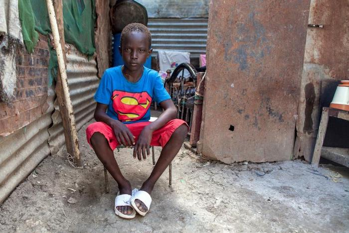 Chogi, 10, was reunited with his mother after five years of separation with UNICEF's help.