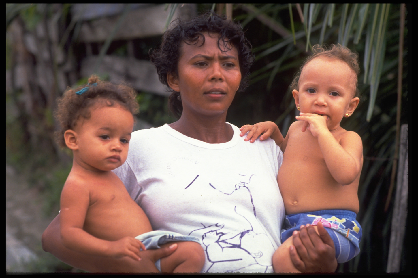 In Recife, Brazil mothers like this one are taking care to protect their children from the ZIka virus.