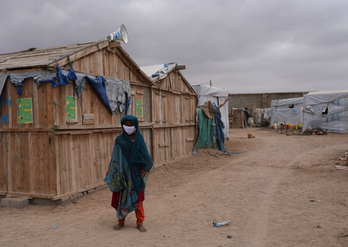 Living conditions are cramped and water is scarce in IDP centers for families displaced by violence in Yemen, making it difficult to practice public health guidance to prevent the spread of COVID-19.