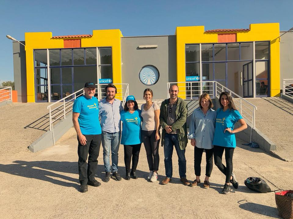 Latifa Woodhouse and family visit Lesvos, Greece and the new UNICEF Blue Dot facility