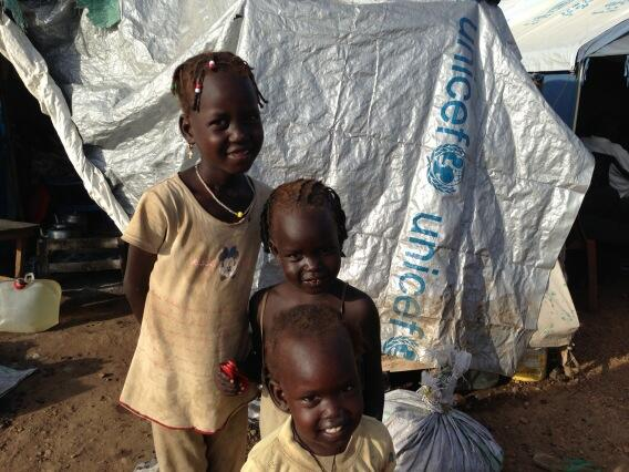 Three of the more than 500,000 displaced children in South Sudan. @UNICEF