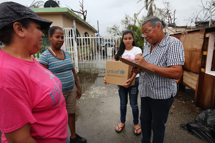 UNICEF and partners are rushing much needed drinking water and hygiene supplies to victims of Hurricane Maria in Puerto Rico.
