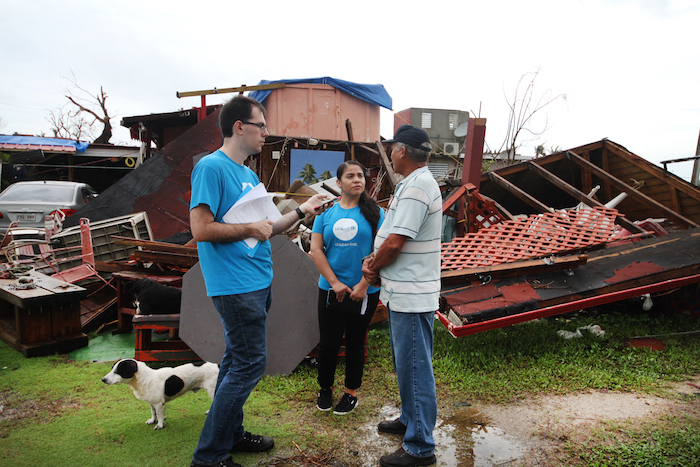 UNICEF USA's Justin Hemenway and Michelle Centeno visited Puerto Rico in October 2017 after Hurricane Maria.