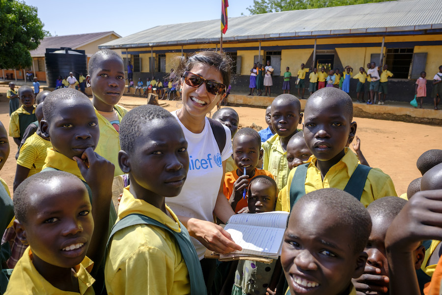 UNICEF's Anjulee Alvares-Cinque travelled to Uganda in February 2017 to meet with South Sudanese refugees.