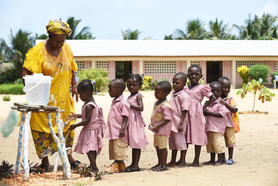 Unicef, handwashing, Côte d'Ivoire