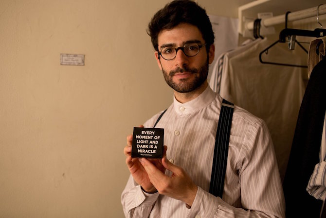 Adam Kantor, backstage at the Broadway production of Fiddler on the Roof