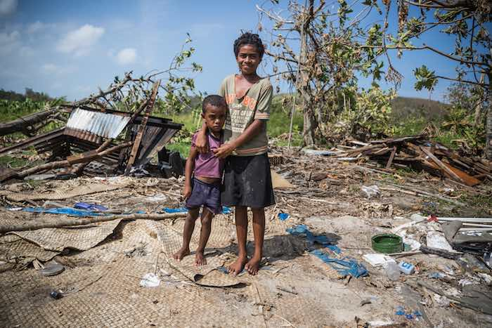 Young girl Adi and her younger brother Waisake are homeless and malnourished because of El Niño