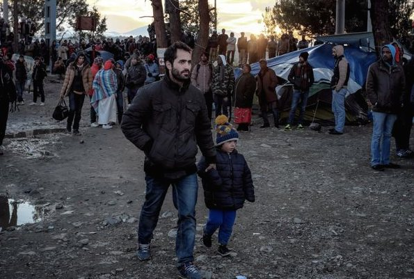 Ali Marge, his wife and two sons fled Lebanon and are waiting in a refugee camp, hoping to cross into the fYR Macedonia