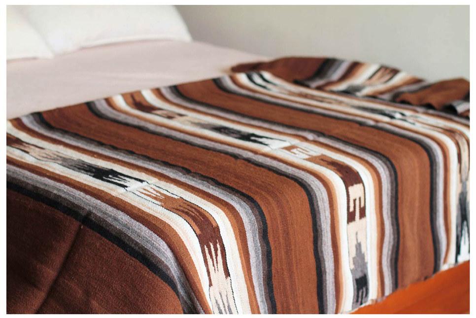 Alpaca Wool Striped Blanket