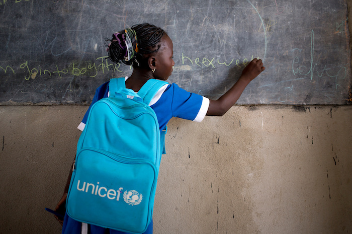 Talatu is an 11-year-old Nigerian refugee who goes to a UNICEF-sponsored school at the Minawao refugee camp in Northern Cameroon.