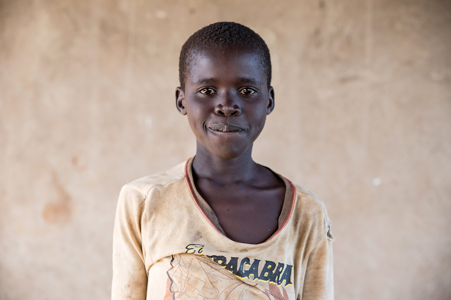 Oroma, 10, lost both his parents in the war in South Sudan. He arrived in Bidi Bidi camp, Uganda, with his two brothers.