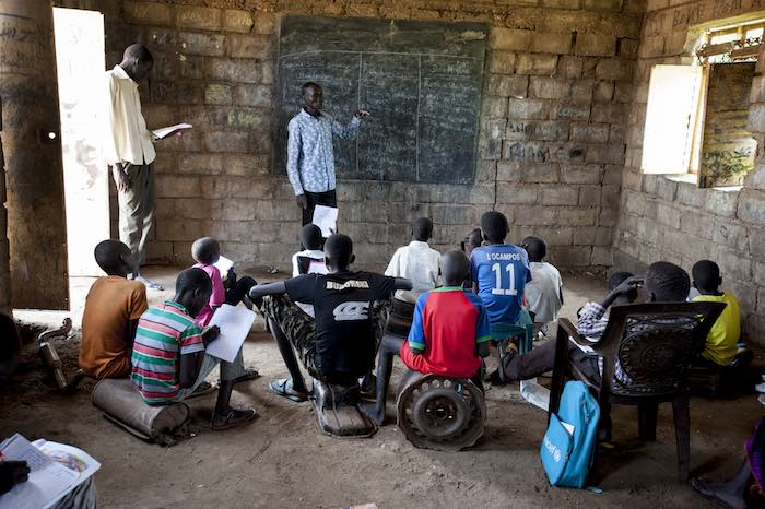 South Sudan is home to the highest proportion of out of school children with over half (51%) of primary and lower secondary age children not accessing an education.
