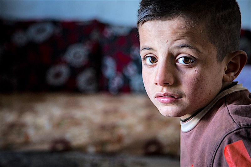 Syrian child refugee Lebanon deprived of school