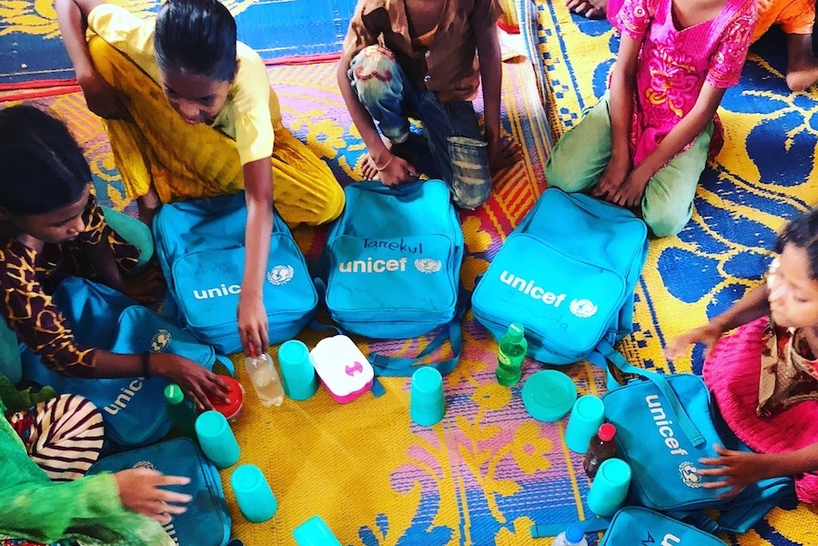 unicef, bangladesh, rohingya, rohingya refugees, refugee camps, education, educating girls, humanitarian relief