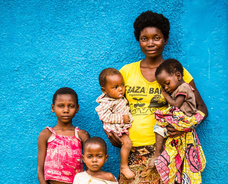 This mother took her four children and ran into the forest when fighting broke out in the Democratic Republic of the Congo.