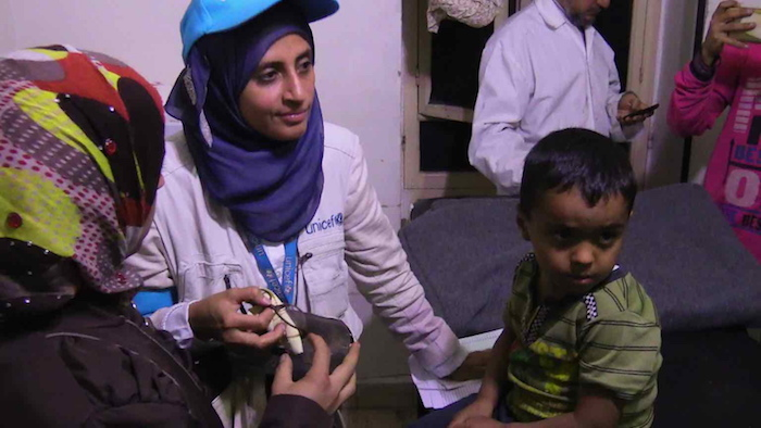 UNICEF delivered health, nutritional supplements, hygiene supplies, educational supplies and children's clothes for 20,000 people in Madaya and Zabadani