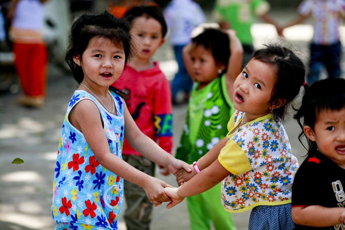 © UNICEF Viet Nam\Doan Bao Chau | Vietnamese children playing as a part of UNICEF's Integrated Early Childhood Development life-cycle approach.
