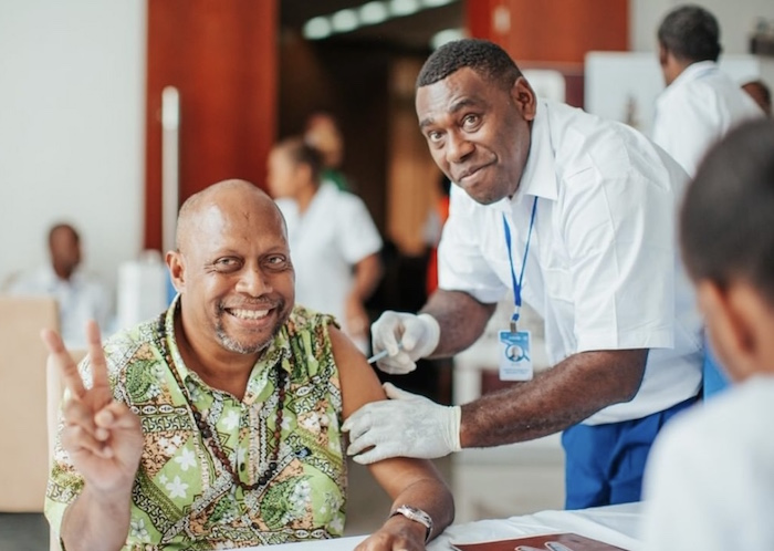 In Vanuatu, senior government officials, community leaders and frontline workers, including health workers, were among the first to receive their COVID-19 vaccinations..