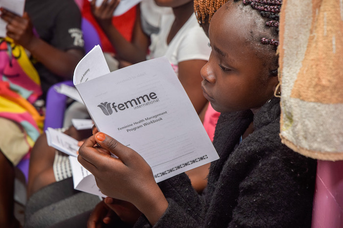 Femme International based in Tanzania employs a network of women to disseminate information on menstrual health and hygiene, to de-stigmatize the issue.