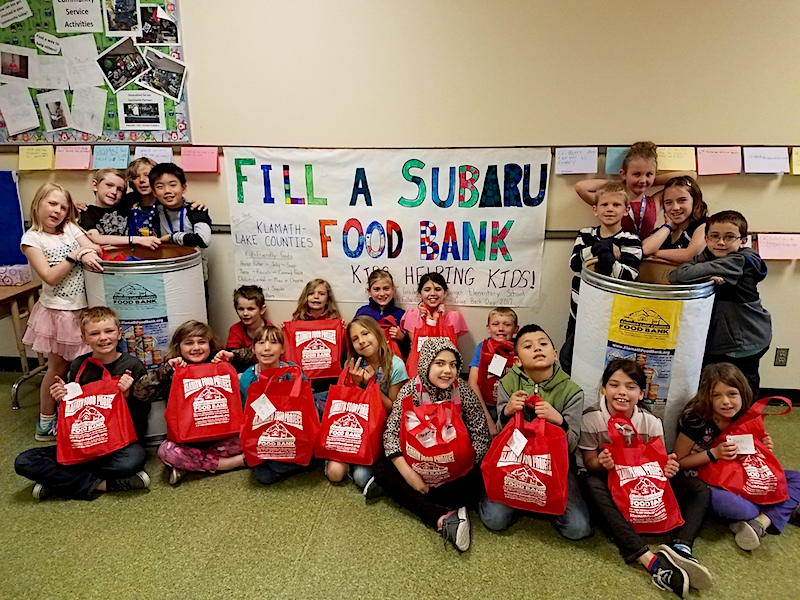 Kid Power inspired Kasey Bird's class to collect food for a local food bank.