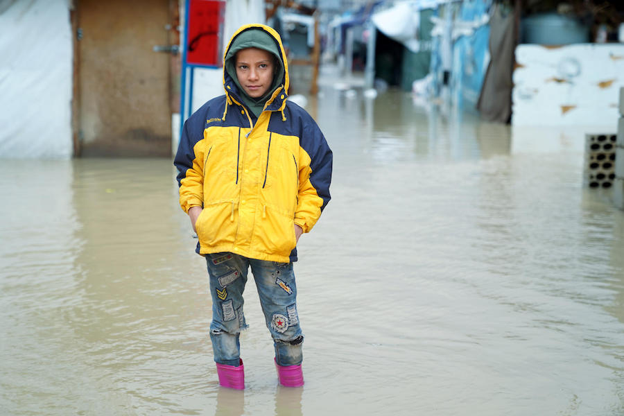 UNICEF, Syrian refugees, Lebanon, winter storm, humanitarian aid