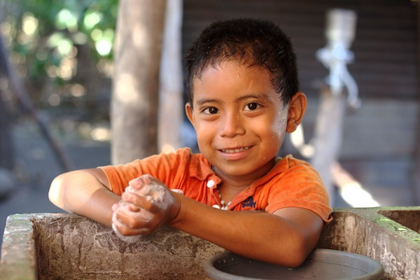 About 50 percent of children in El Salvador live in poverty.