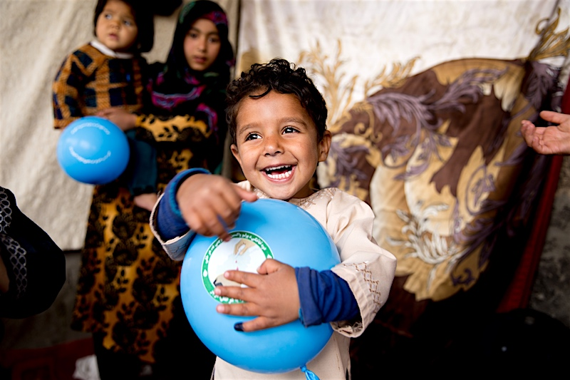 Afghanistan is one of three remaining countries where the wild polio virus is still endemic. That is why continued polio vaccination there saves children's lives and helps make critical progress toward SDG 3 (health and well-being).