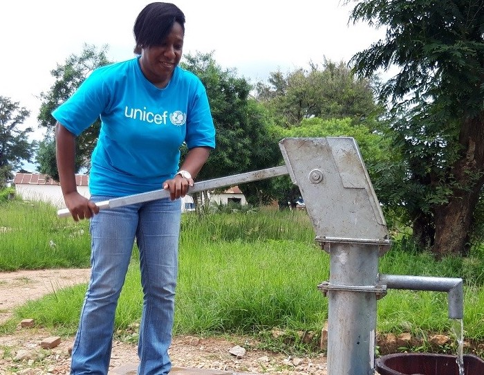 Hina Derabe Maobe is a UNICEF water, sanitation and hygiene specialist in the Bossangoa Field Office in the Central African Republic.