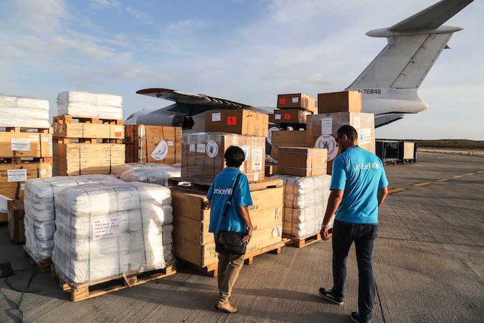 When Hurricane Maria struck the Caribbean in 2017, UNICEF quickly deployed staff and humanitarian supplies, including water purification tablets, tents and tarpaulin, school bags, early childhood development kits, school-in-a-box kits and teaching supplie