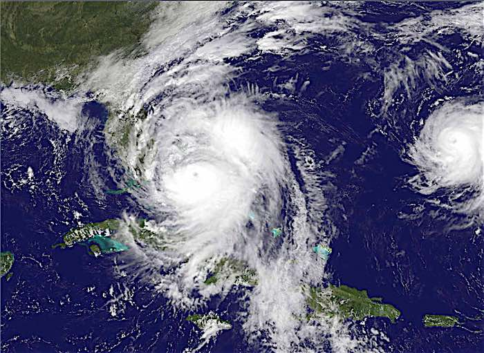 Hurricane Matthew as of 1 PM on October 6, 2016 (NASA satellite image)