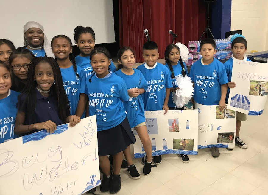 A fundraising campaign by Oakcliff Elementary school students raised money for hand-operated water pumps.
