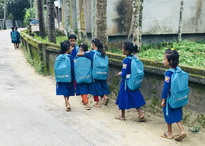 UNICEF is not only helping Rohingya refugee children living in Bangladesh, it is also providing education support to children in need in the surrounding host communities