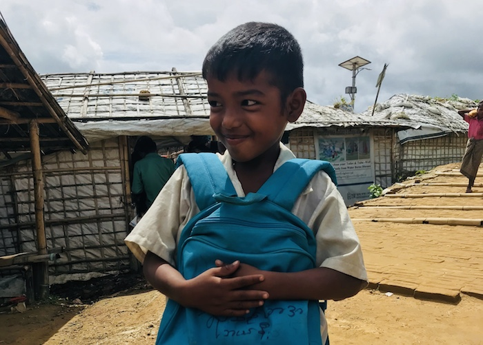 UNICEF provides education, health care, nutrition and other support to Rohingya refugee children living in the camps in Bangladesh.