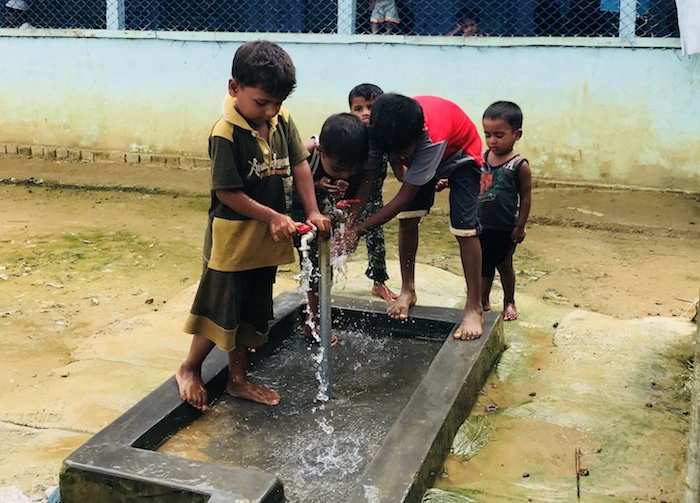 UNICEF provides WASH facilities for Rohingya refugees living in Bangladesh.