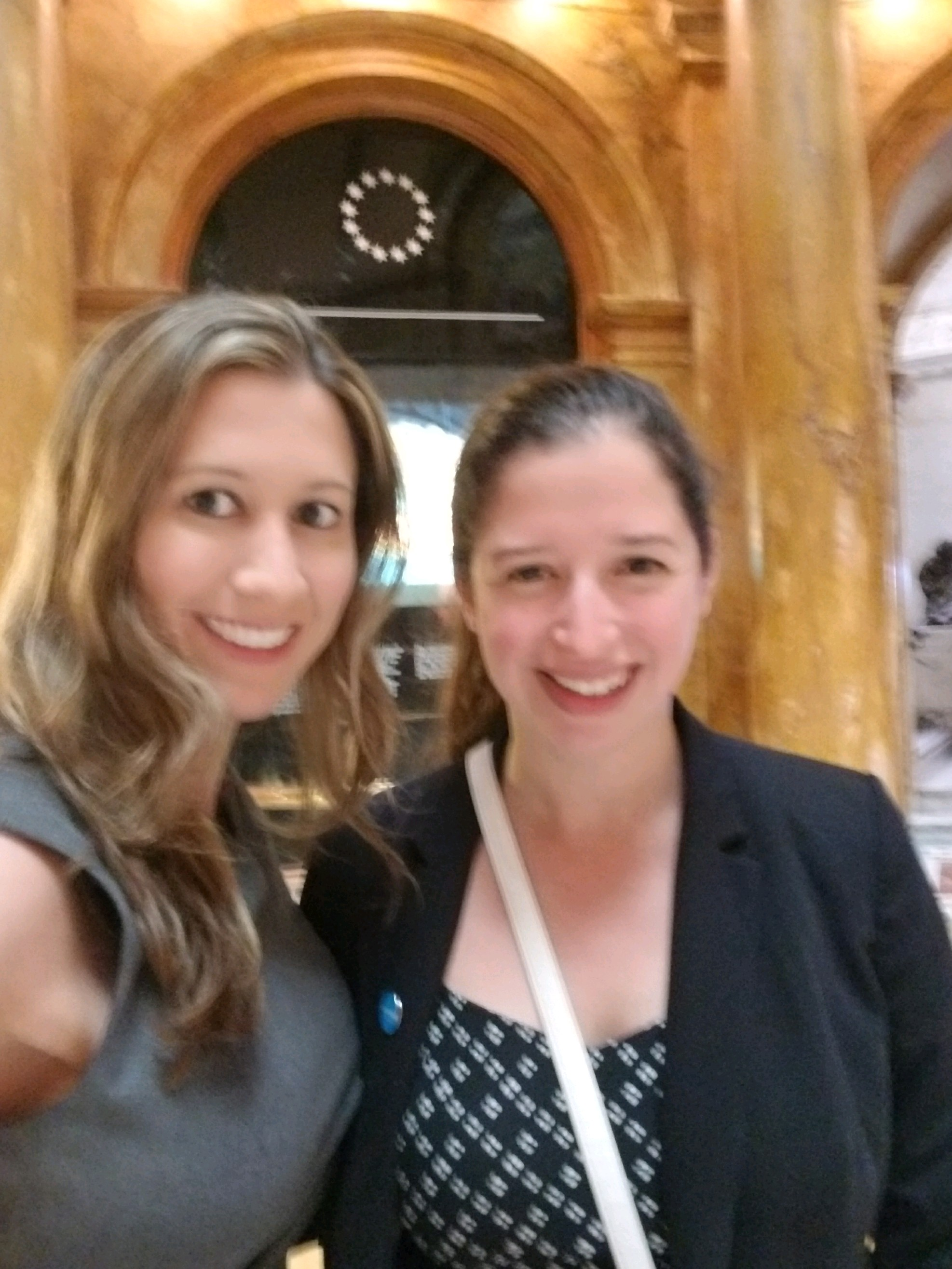 Boston CAT Member, Jamie Gadowski, and Boston Community Engagement Fellow, Jessica Morris, attend a hearing of the joint judiciary committee at the Massachusetts State House.