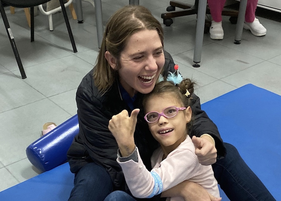 Lucy Meyer, spokesperson for the UNICEF-Special Olympics partnership, bonded with many children while visiting Montenegro to spread her message of inclusion.