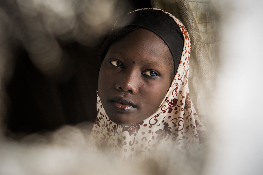 Khadija, 15, lives in the Dar es Salam refugee camp in Chad. She dreams of working in IT and new technologies.