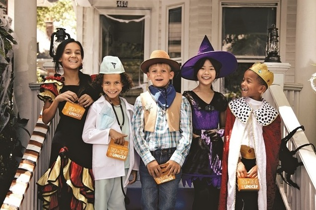 Trick-or-Treaters for UNICEF may look like a cowboy or king, but what Trick-or-Treaters for UNICEF really want to be for Halloween is a kid who helps kids.