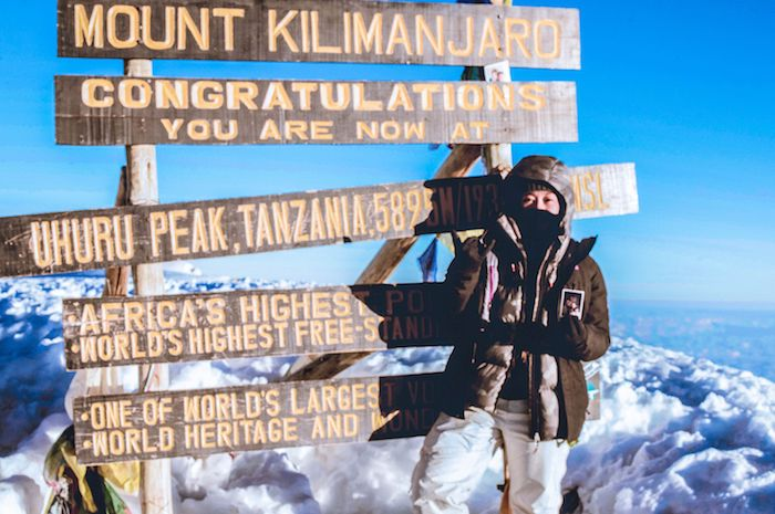 UNICEF supporter Ashley Cobile climbed Mt. Kilimanjaro in 2018 to raise funds to help UNICEF fight human trafficking.