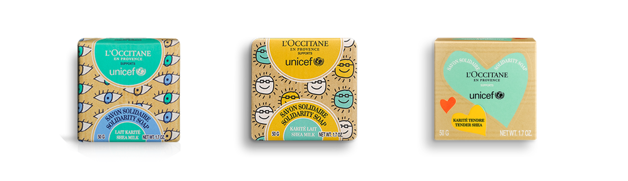 L'OCCITANE Solidarity Soaps in support of UNICEF