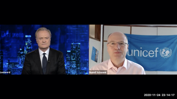 MSNBC's Lawrence O'Donnell and UNICEF Malawi Representative Rudolf Schwenk discuss impact of the K.I.N.D. initiative for kids in Malawi and how desks are needed now more than ever due to COVID.