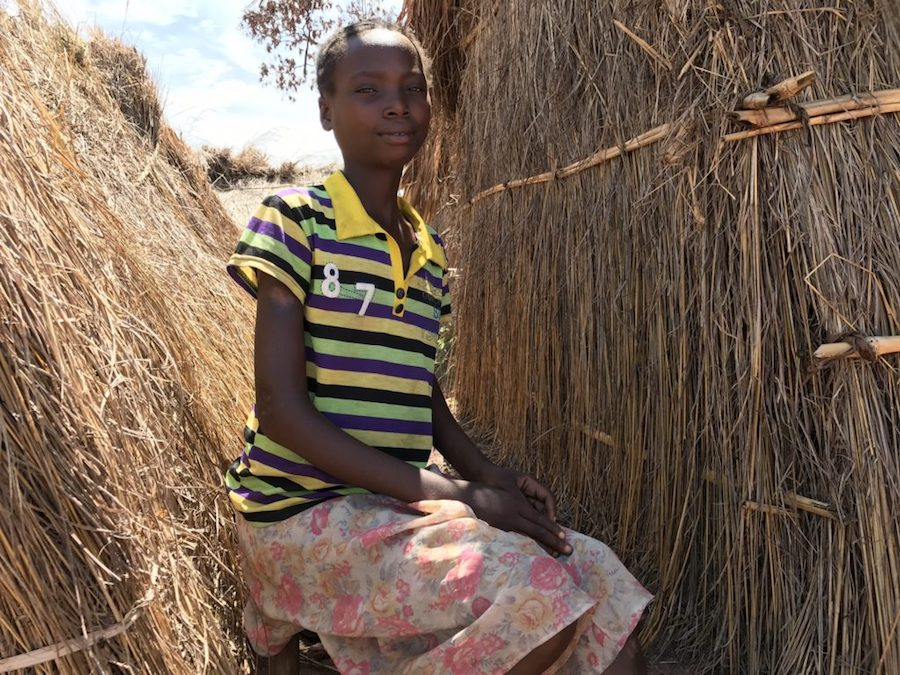 Manda, 17, is an unaccompanied minor who saw her parents killed in Tanganyika. Now she lives in Katanika 2, a refugee camp near Kalemie.