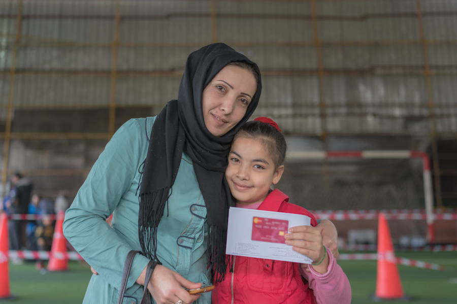 The LOUISE common card allows Syrian refugees in Lebanon to access all the benefits for which they are eligible, and to decide for themselves how best to allocate the available funds.