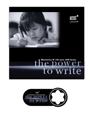 Mont Blanc Write to Learn