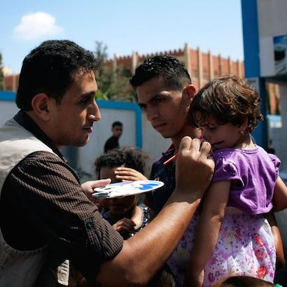 In Gaza, UNICEF is working to help children affected by the violence.