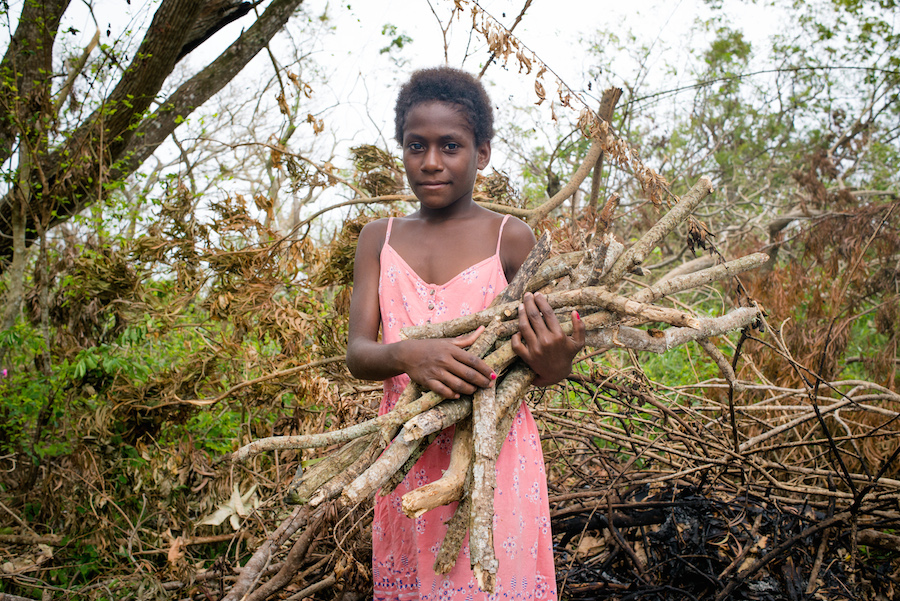 Nellie, a child on one of the 22 islands in the Vanuatu archipelago hit by Cyclone Pam, looks forward to returning to school. UNICEF is working to reopen schools.
