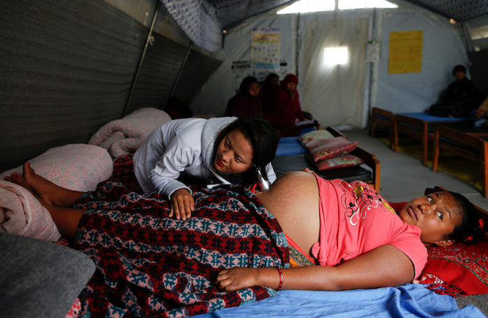 Nepal's 2015 earthquakes left 70 percent of birthing centers in some parts of Nepal destroyed. Thousands of mothers and newborns could have gone without critical healthcare but UNICEF helped set up shelters so that babies could come into the world safely.