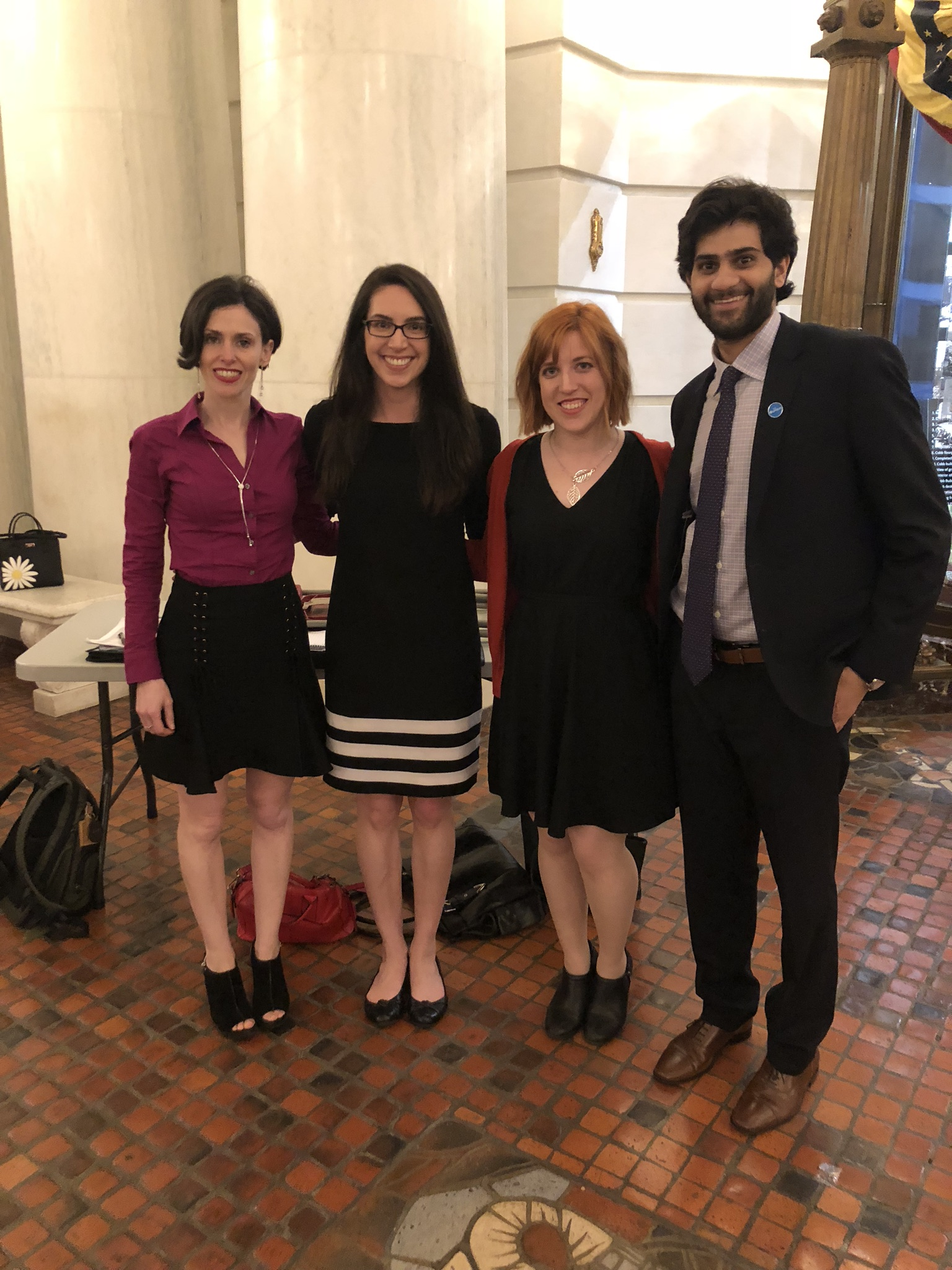 Fraidy Reiss, Sabrina Moldt, Alexandra Boyer Coffey, and Curan Mehra in Harrisburg, PA